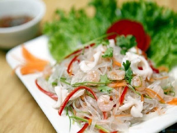 Mua miến xào hải sản ngon ở Hà Nội