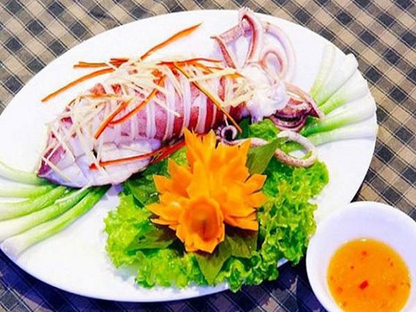 Món ăn được chế biến từ mực tươi